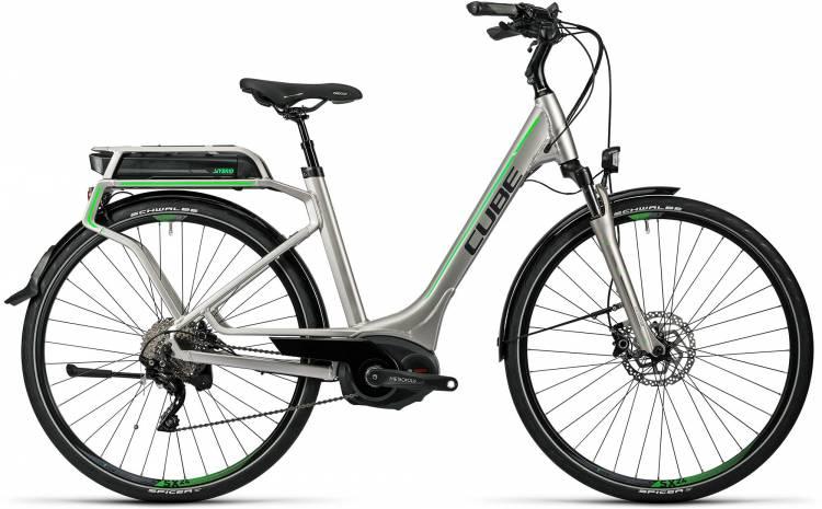 Cube Touring Hybrid Pro 500 silver n flashgreen Femme - Easy Entry 2016 - Modèle de démonstration