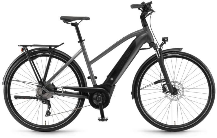 """Winora Sinus i9 500Wh 28"""" titan 2020 - Vélo trekking électrique Femme trapèze"""