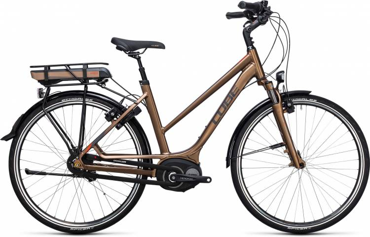 Cube Travel Hybrid 500 havanna brown n orange Femme Trapez 2017