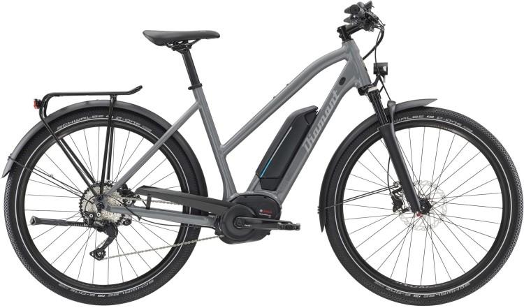 Diamant Elan Legere+ GOR Graphitgrau 2020 - Vélo trekking électrique Femme