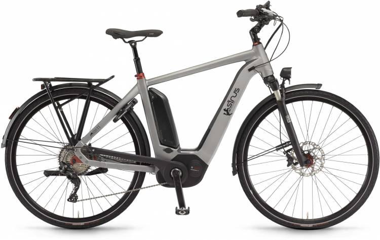 "Sinus Ena11 500Wh 28"" darksilver matt 2017 - Vélo trekking électrique Homme"