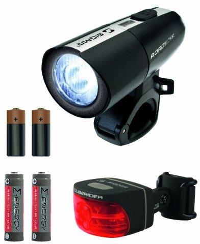 Sigma LED-Frontleuchte Roadster / Cuberider schwarz inkl. Batterien