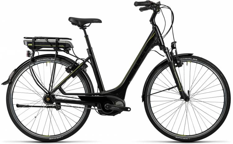 Cube Travel Hybrid RT 500 black n lime Femme - Easy Entry 2016