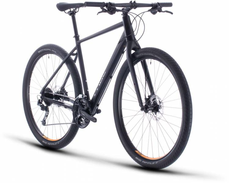 Cube Hyde black n yellow 2020 - Vélo fitness Homme