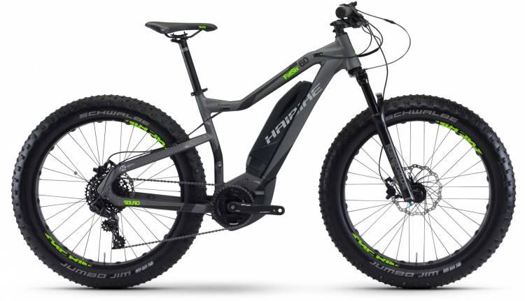 Haibike SDURO FatSix 6.0 400Wh titan/schwarz/grün matt 2017 - VTT semi-rigide électrique fat bike