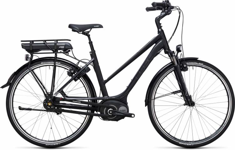 Cube Travel Hybrid 500 black n white Femme Trapez 2017