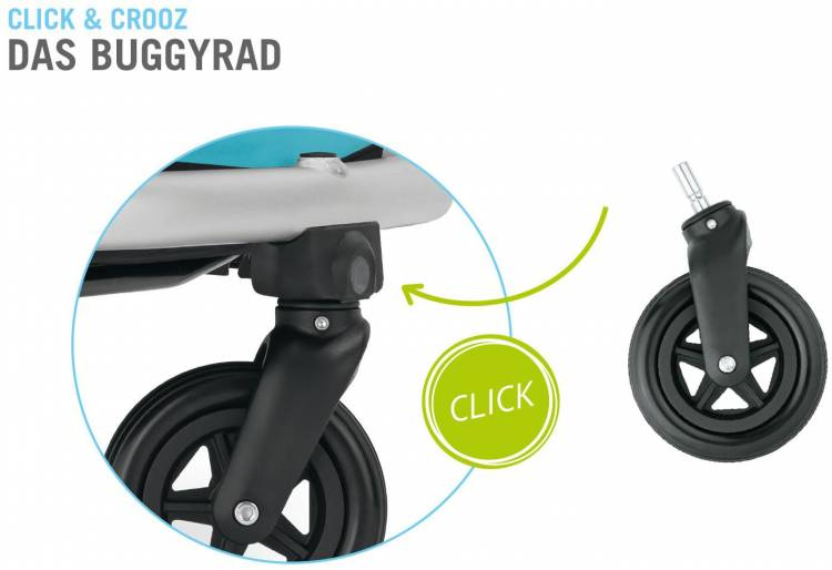 Croozer Kid Plus for 1 Click & Crooz - Remorque à vélo