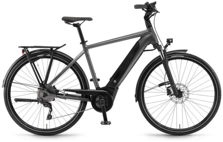 """Winora Sinus i9 500Wh 28"""" titan 2020 - Vélo trekking électrique Homme"""