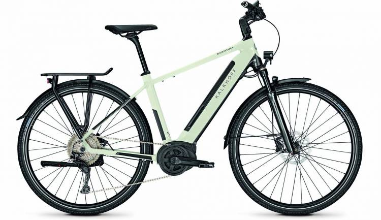 Kalkhoff Endeavour 5.B Advance diamondblack/starwhite glossy (Diamond) 2020 - Vélo trekking électrique Homme