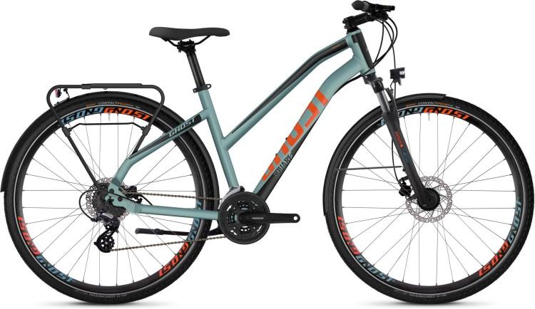 Ghost Square Trekking 2.8 AL W river blue / jet black / monarch orange 2020 - Vélo trekking Femme