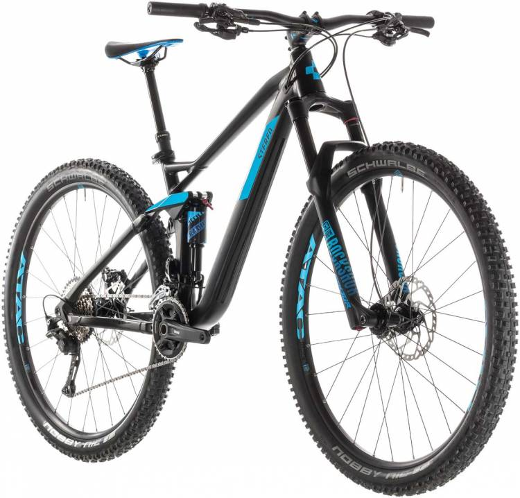 Cube Stereo 120 Race 29 black n blue 2019