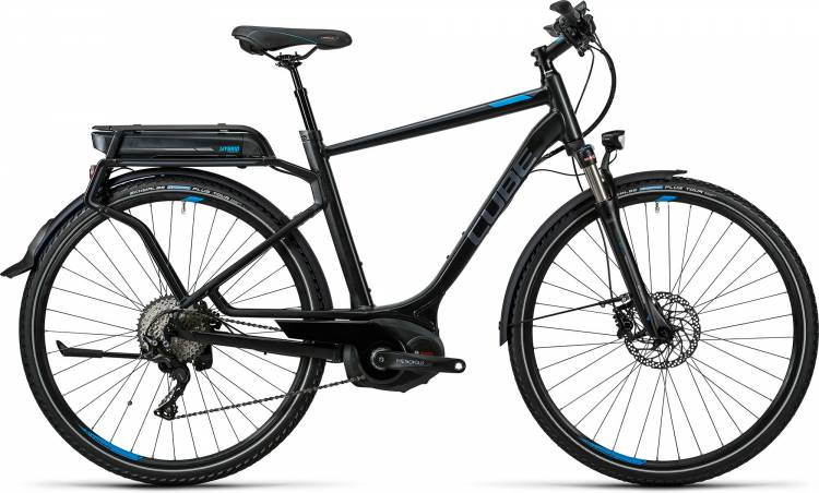 Cube Touring Hybrid EXC 400 black n flashblue Homme 2016