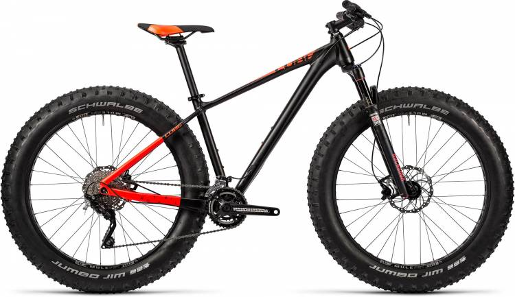 Cube Nutrail black n flashred Fatbike 2016