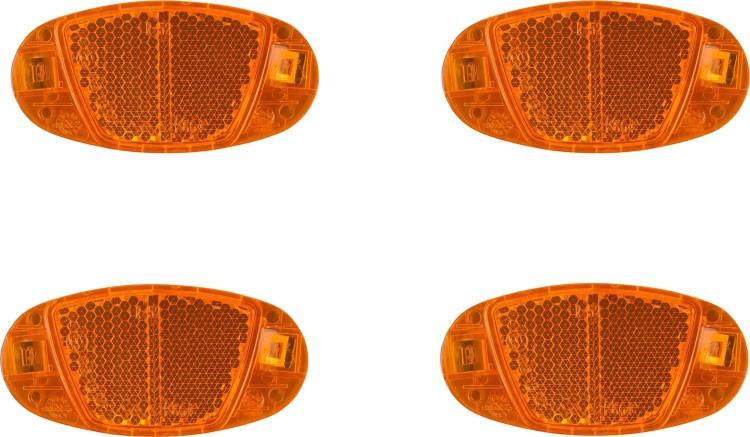 Catadioptres de roue Cube Set CMPT orange 4 pièces