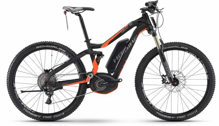 Haibike XDURO FullSeven S 7.0 500Wh schwarz/orange matt 2017 - VTT tout suspendu électrique