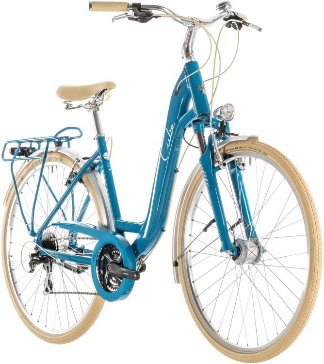 Cube Ella Ride blue n cream - Col de cygne 2019