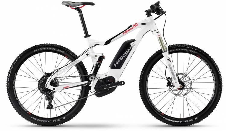 Haibike XDURO FullSeven 5.0 500Wh weiß/schwarz/rot 2017