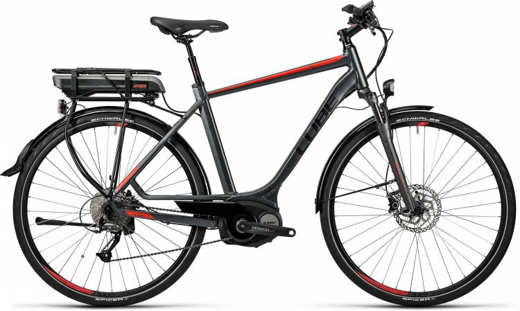 Cube Touring Hybrid 400 grey n red Homme 2016