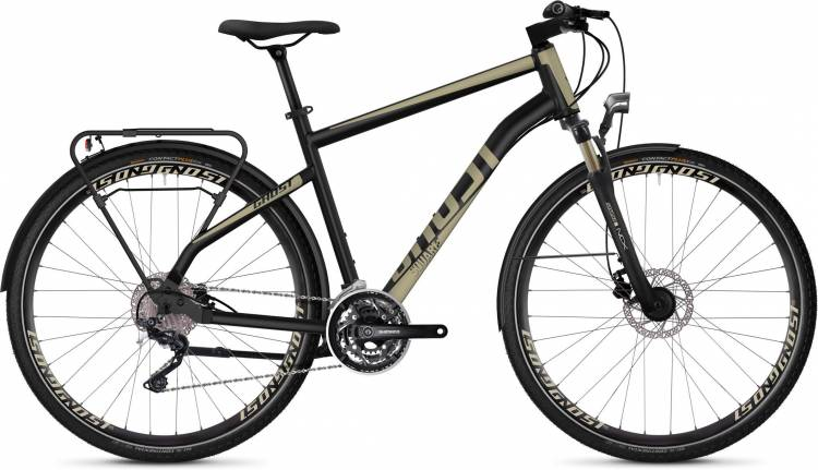 Ghost Square Trekking 6.8 AL U jet black / ext gold 2020 - Vélo trekking Homme