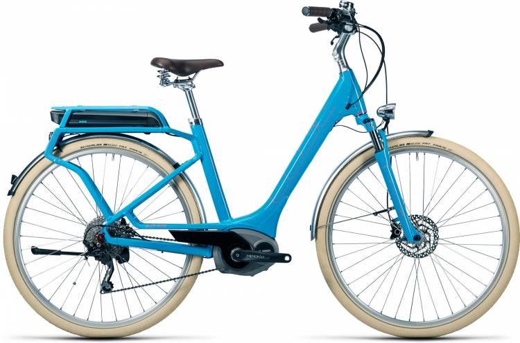 Cube Elly Ride Hybrid 500 blue n flashred Femme - Easy Entry 2016 - Modèle de démonstration