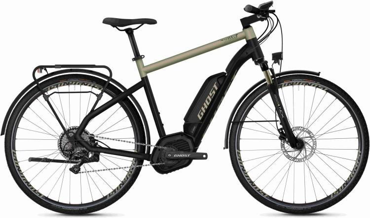 Ghost Hybride Square Trekking B5.8 AL U jet black / ext gold 2020 - Vélo trekking électrique Homme