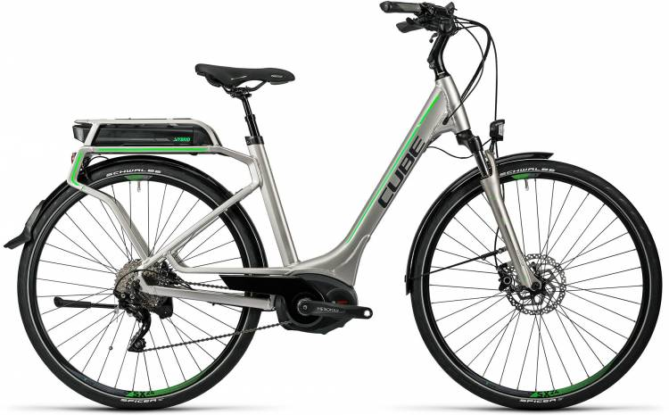 Cube Touring Hybrid Pro 400 silver n flashgreen Femme - Easy Entry 2016