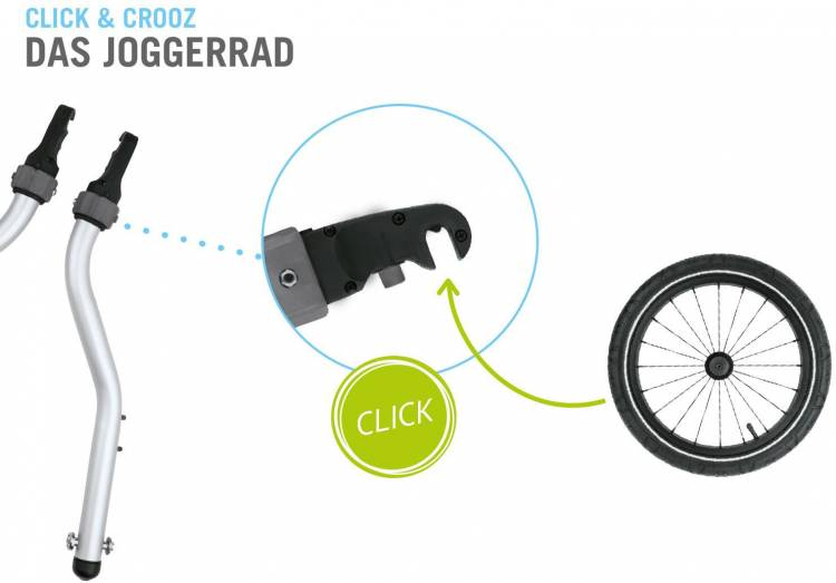 Croozer Kid Plus for 2 Click & Crooz - Remorque à vélo