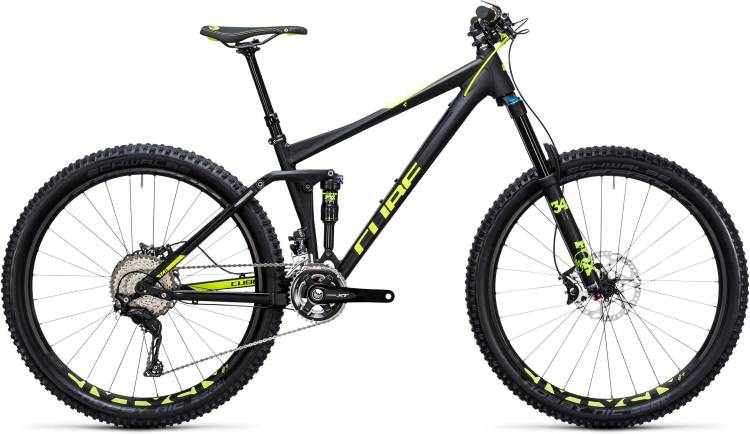 Cube Stereo 140 HPA Race 27.5 black n flashyellow 2017