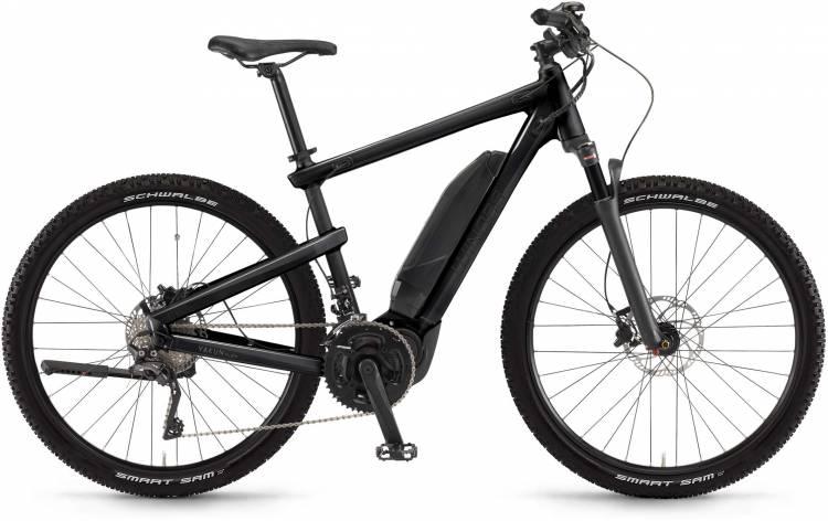 """Winora Yakun plain 500Wh 28"""" schwarz matt/glanz 2017 - Vélo trekking électrique Homme"""