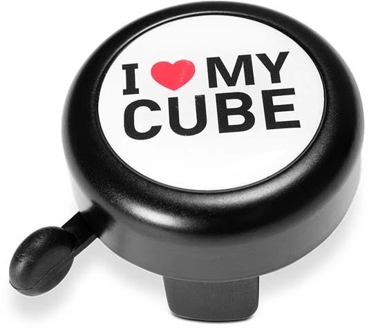 Cube de sonnette de bicyclette I LOVE MY Cube noir n blanc n blanc n rouge