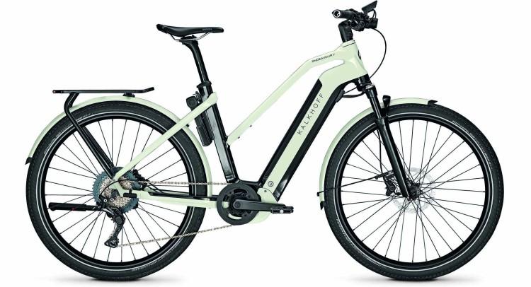 Kalkhoff Endeavour 7.B Advance magicblack/starwhite glossy (Trapez) 2020 - Vélo trekking électrique Femme
