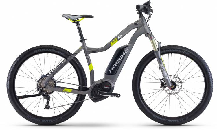 Haibike XDURO Cross 4.0 500Wh titan/lime matt Damen 2017