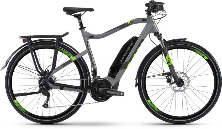 Haibike SDURO Trekking 4.0 500Wh gris/noir/vert - Homme 2019