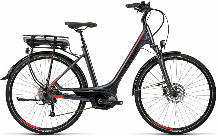 Cube Touring Hybrid 500 grey n red Femme - Easy Entry 2016