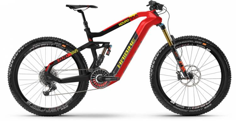 Haibike XDURO Nduro 10.0 FLYON i630Wh red/carbon/yellow dull 2021