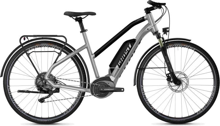 Ghost Hybride Square Trekking B2.8 AL W iridium silver / jet black 2020 - Vélo trekking électrique Femme