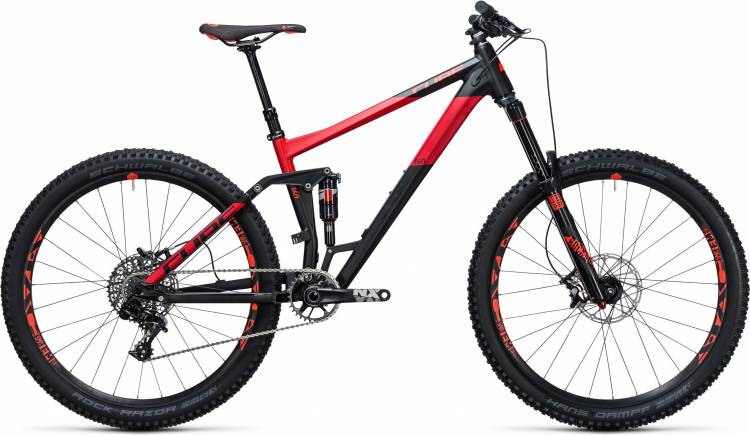 Cube Stereo 160 HPA Race 27.5 black n red 2017