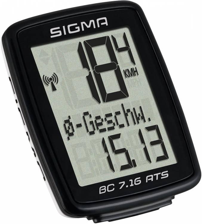 Compteur Sigma BC 7.16 ATS noir
