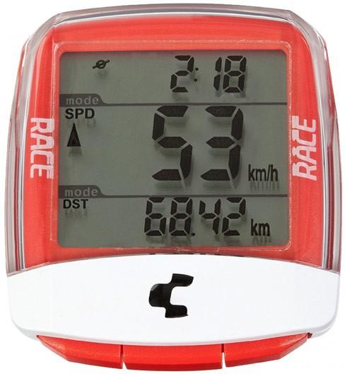 Cube Fahrradcomputer RACE TL kabellos rot / weiß