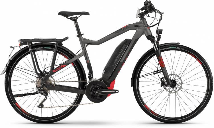 Haibike SDURO Trekking S 8.0 500Wh black/titan/red dull - Homme 2020
