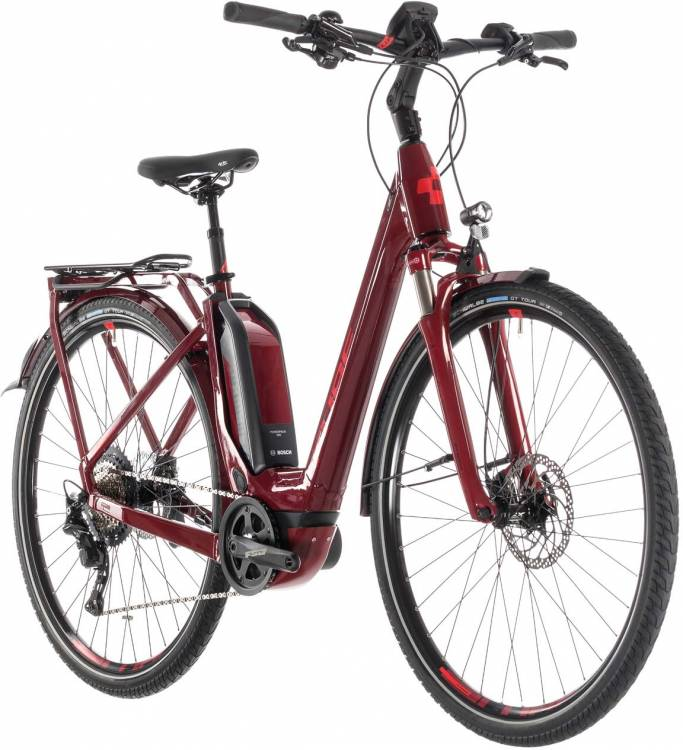 Cube Touring Hybrid EXC 500 darkred n red - Col de cygne 2019