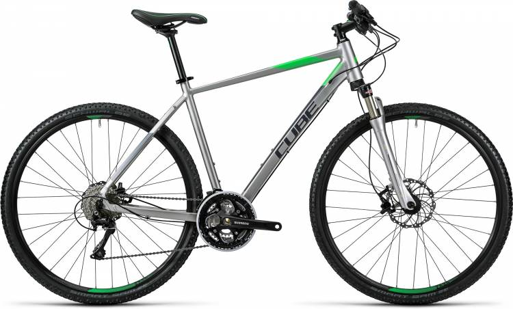 Cube Cross Pro silver grey green Homme 2016