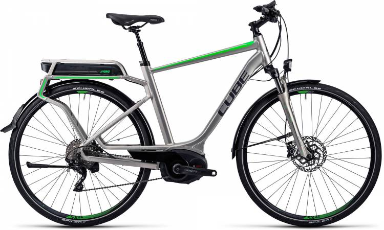 Cube Touring Hybrid Pro 500 silver n flashgreen Homme 2016