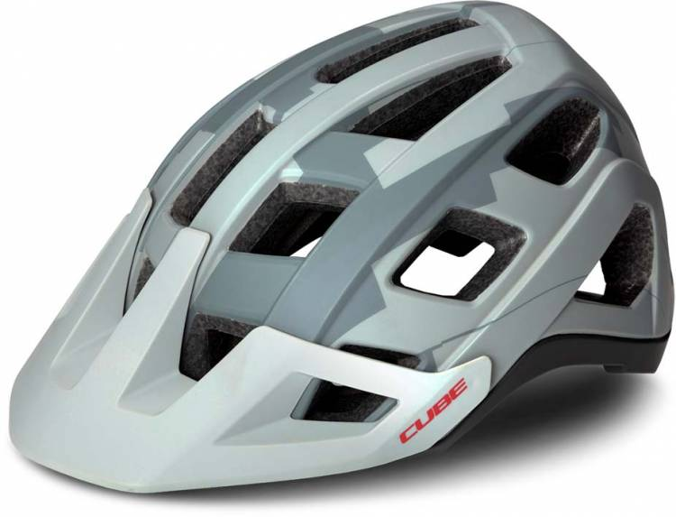 Cube Helm BADGER grey camo